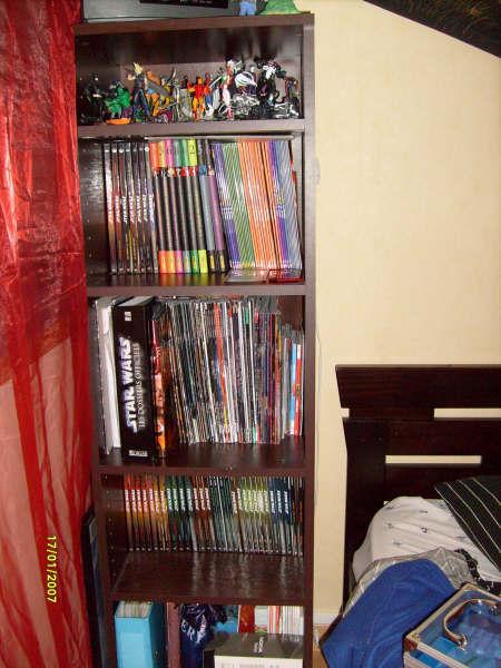 Photo 18 - ma bibliothèque composée essentiellement de sw et de comics