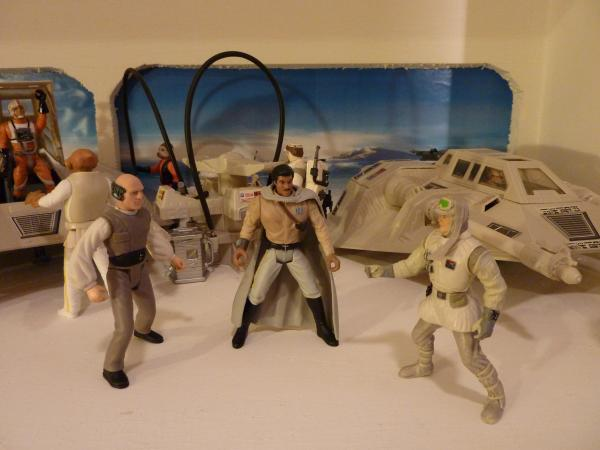 Photo 1 - Diorama de la Base ECHO sur Hoth .