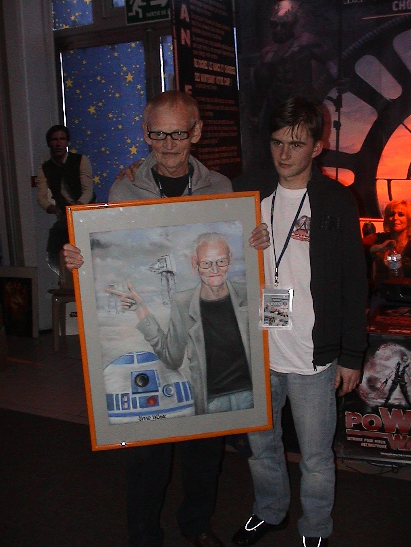 Photo 81 - Rober Watts et son tableau de yasuo