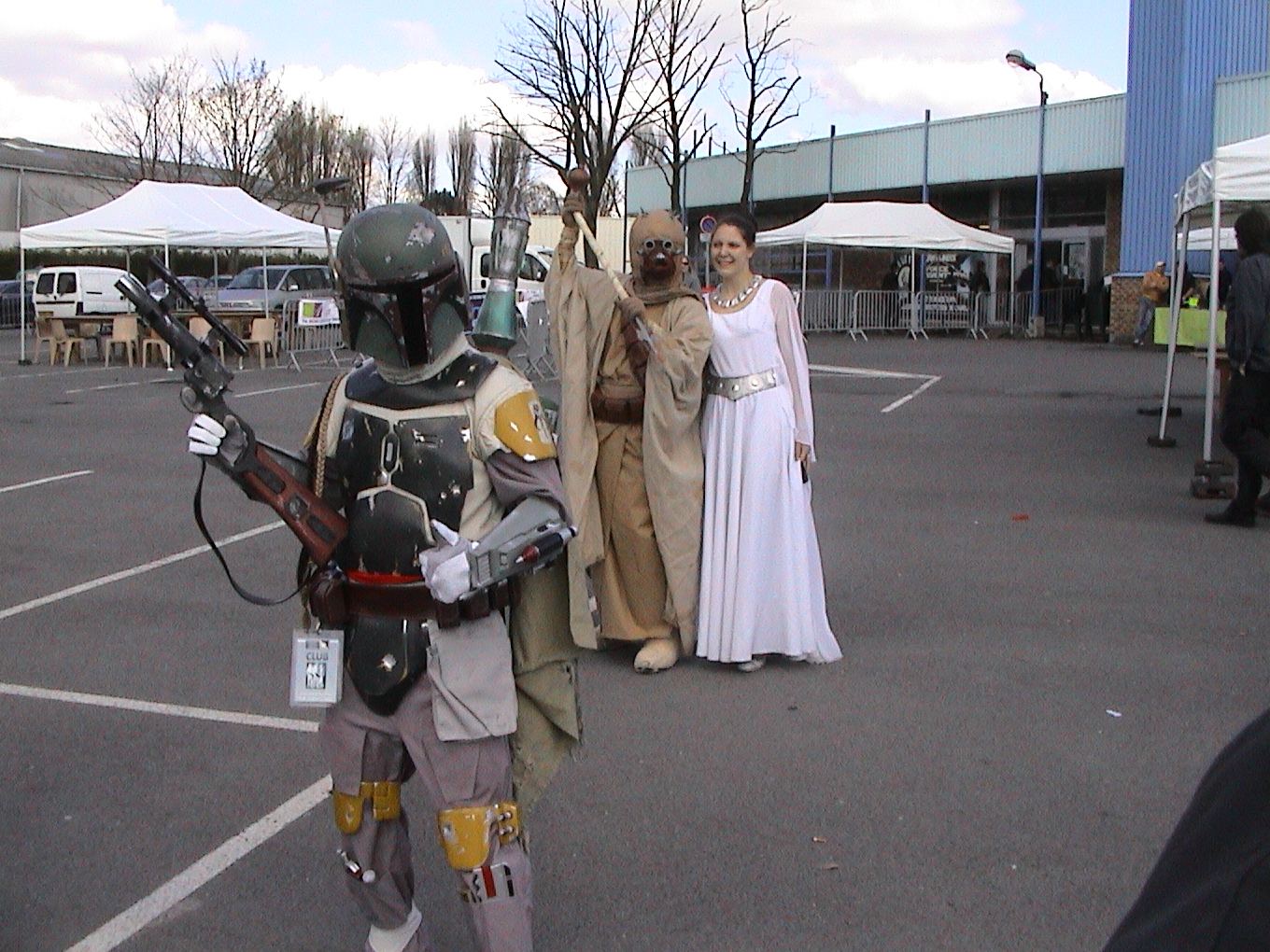 Photo 104 - Boba Fett, un Tusken et Leia.