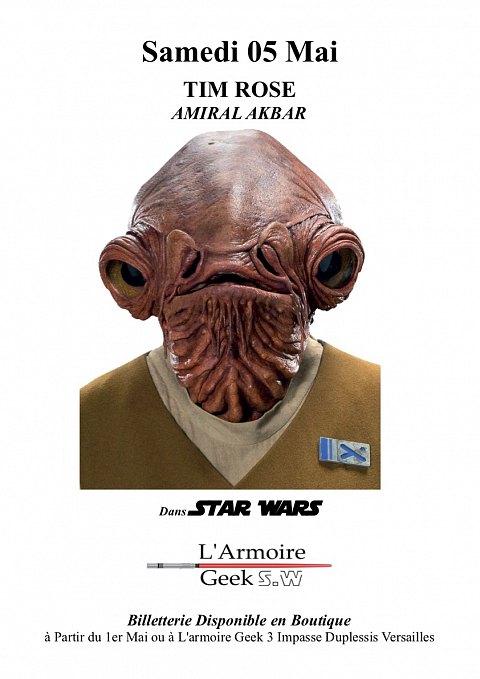 Amiral Akbar (Tim Rose) en dédicace à Paris