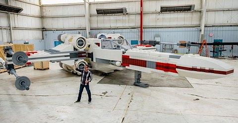 Le vaisseau X-Wing Starfighter en Lego à Saint Laurent Du Var