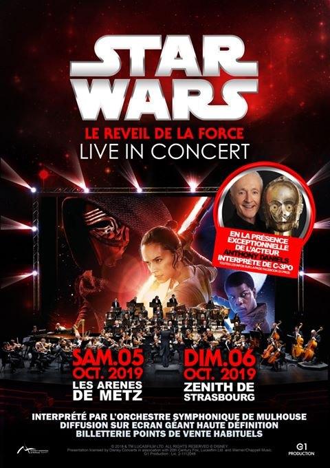 Ciné-Concert Star Wars Réveil de la Force Strasbourg
