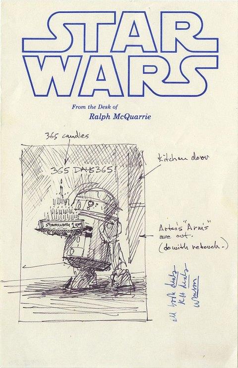 Retour sur 40 ans de posters d 39 anniversaire star wars - Bon anniversaire star wars ...
