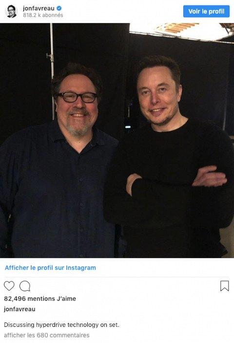 Il Sagit Dune Photo Le Montrant Au Cote DElon Musk PDG De Tesla Et Space X Avec En Commentaire