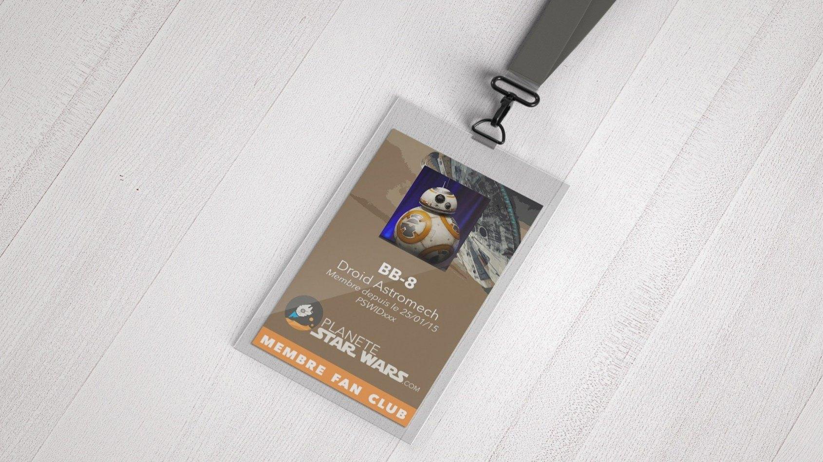 Votre badge et carte du fan club !