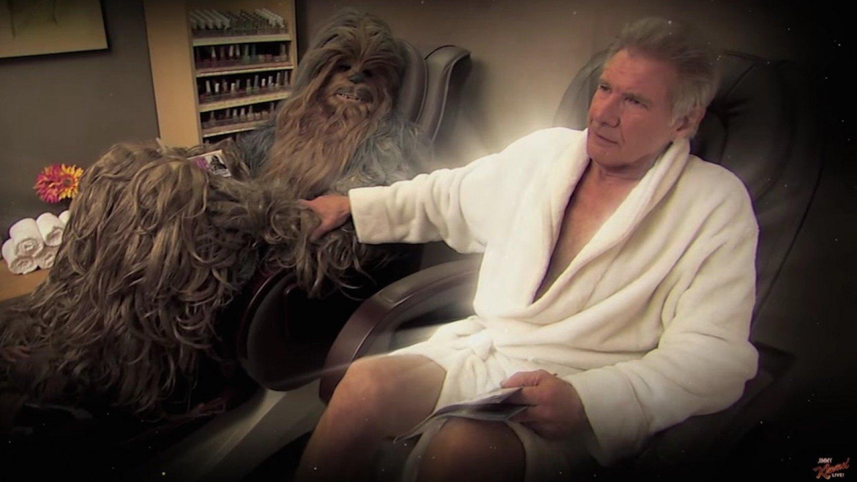 Harrison Ford et Chewbacca se r�concilient apr�s une histoire d'adult�re !