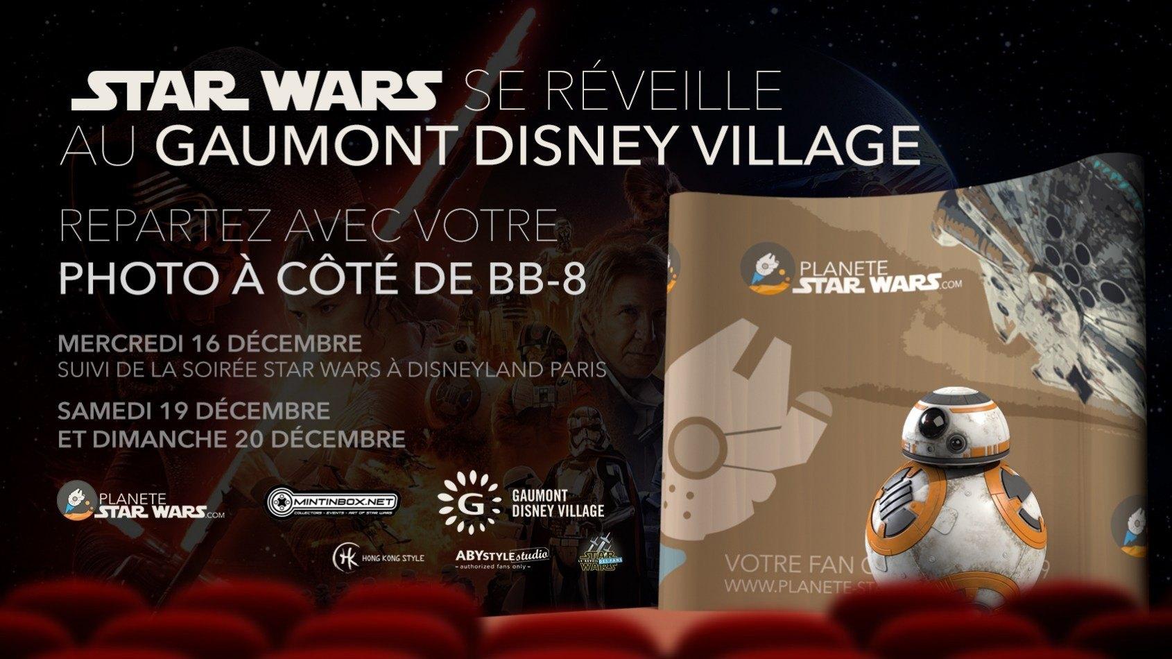 L'Episode VII au Gaumont Disney Village et photo avec BB-8 !