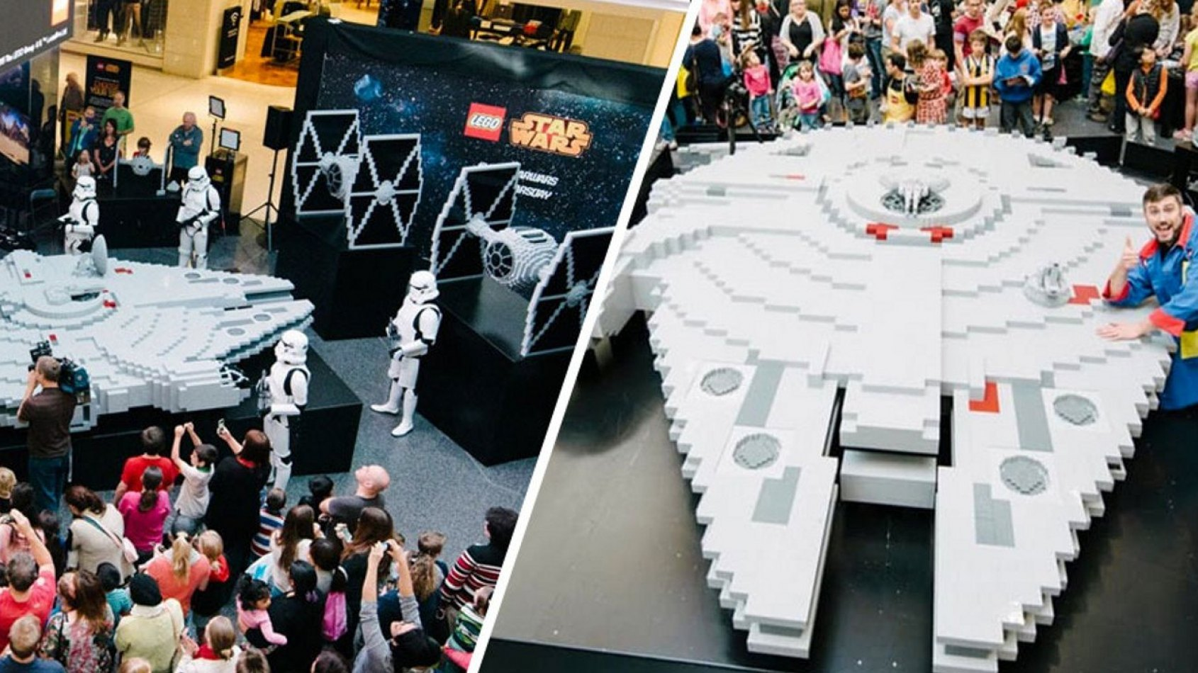LEGO construit le plus grand Faucon Millenium au monde.