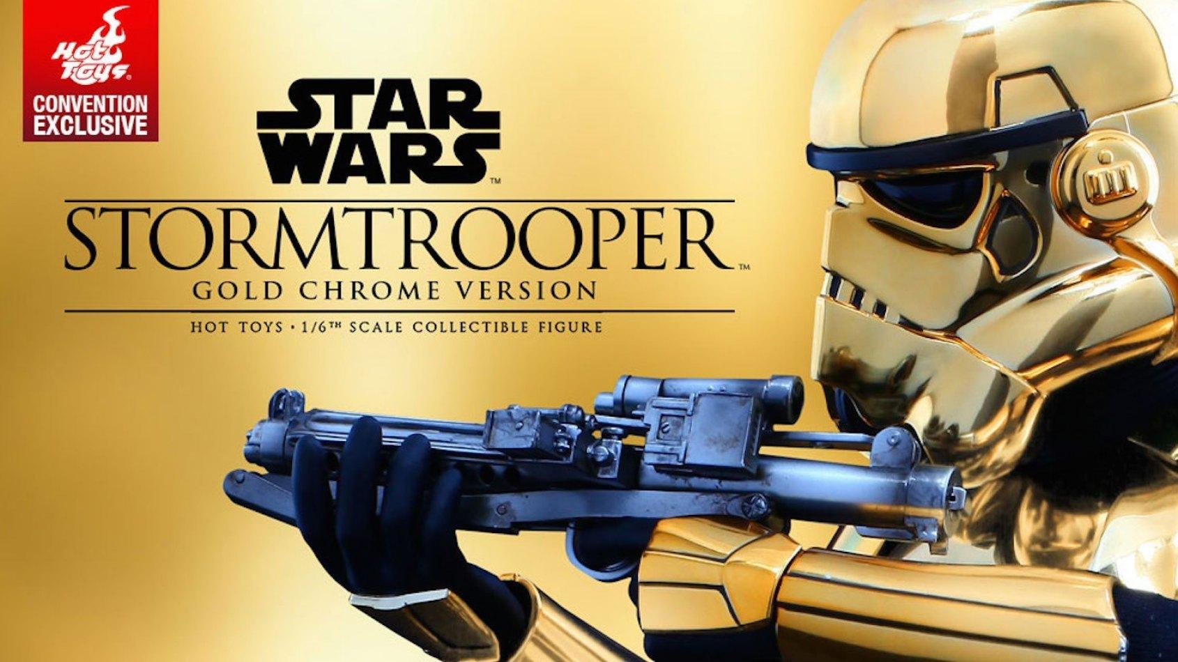Sideshow un stormtrooper 1 6 me version gold plan te for 6eme planete