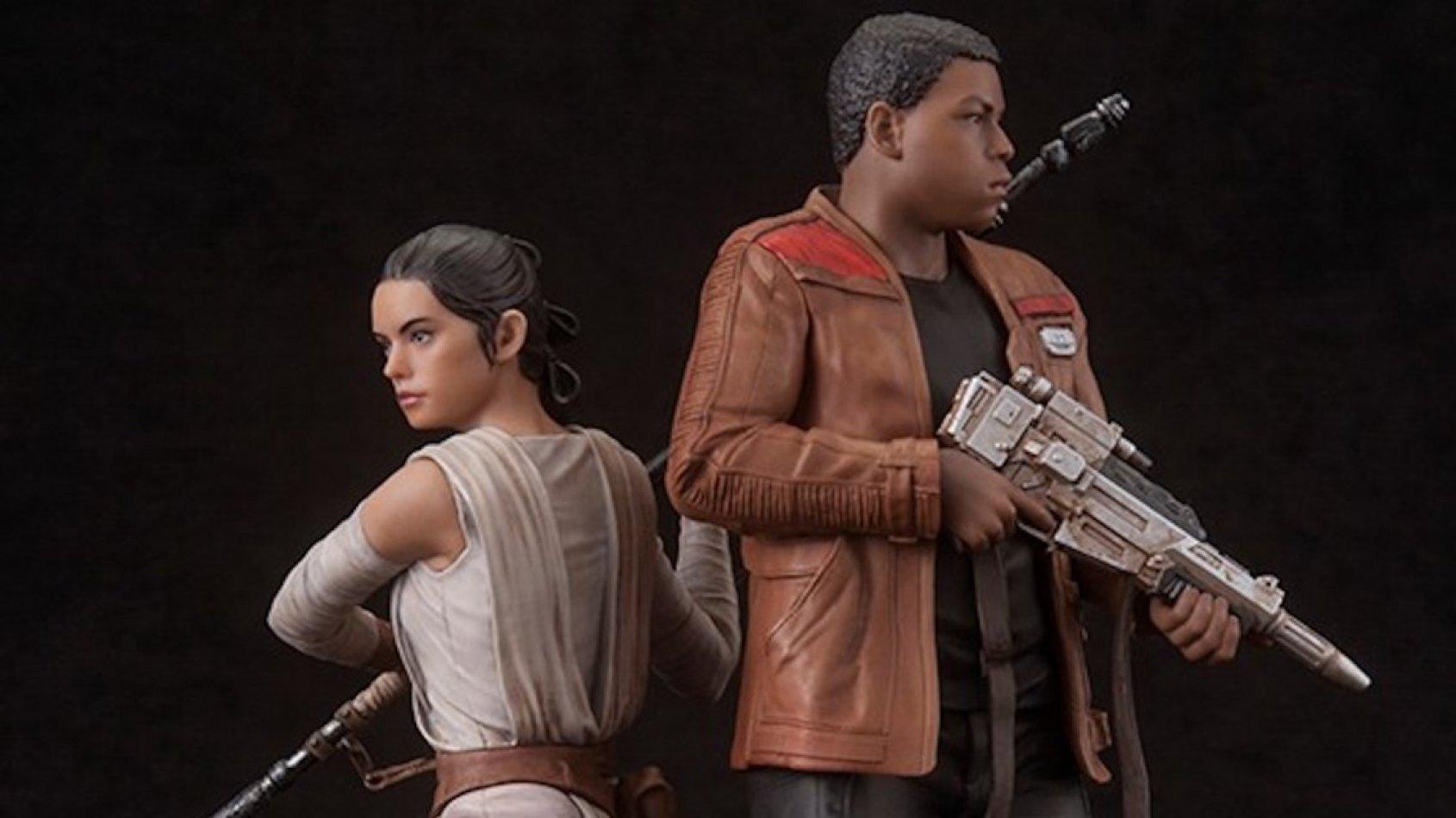 Rey et Finn en figurine ArtFX par Kotobukiya