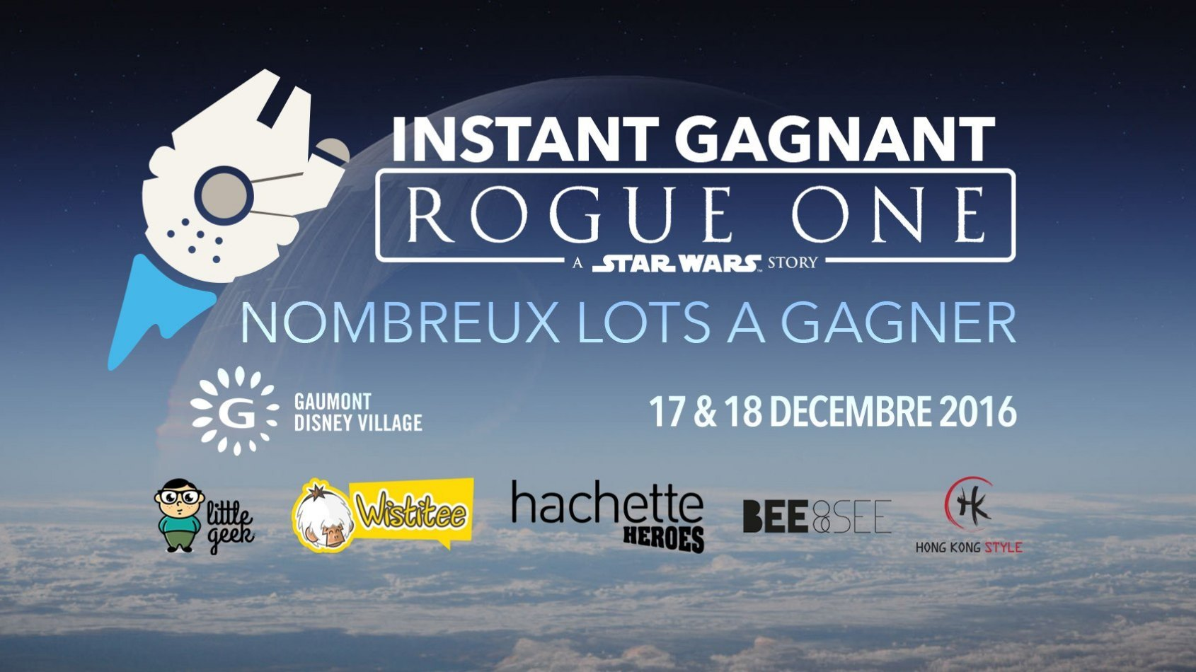 Instant Gagnant Rogue One au Gaumont Disney Village ce weekend !