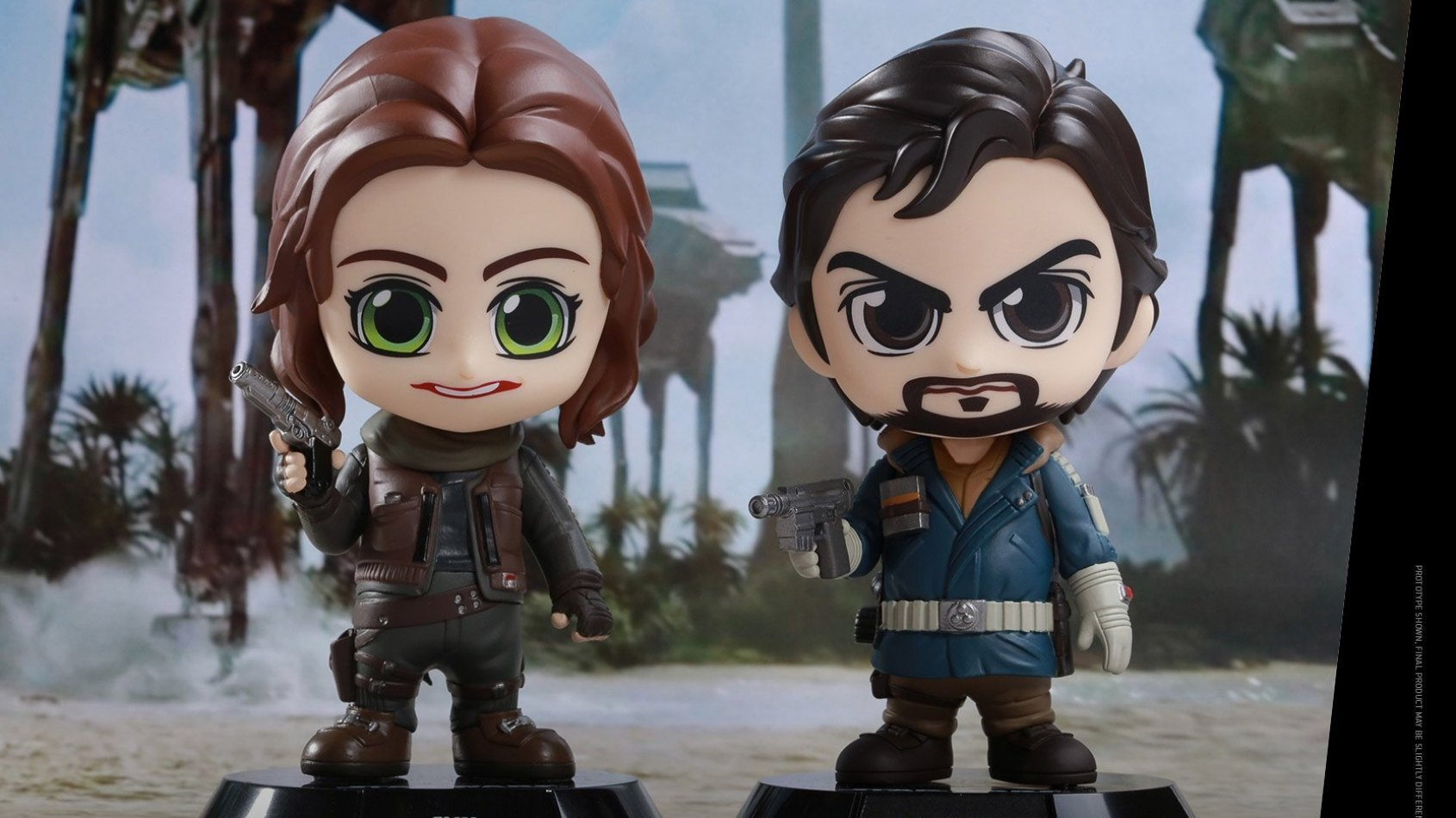 Rogue One: les bobble-head cosbaby de Jyn Erso et Cassian Andor