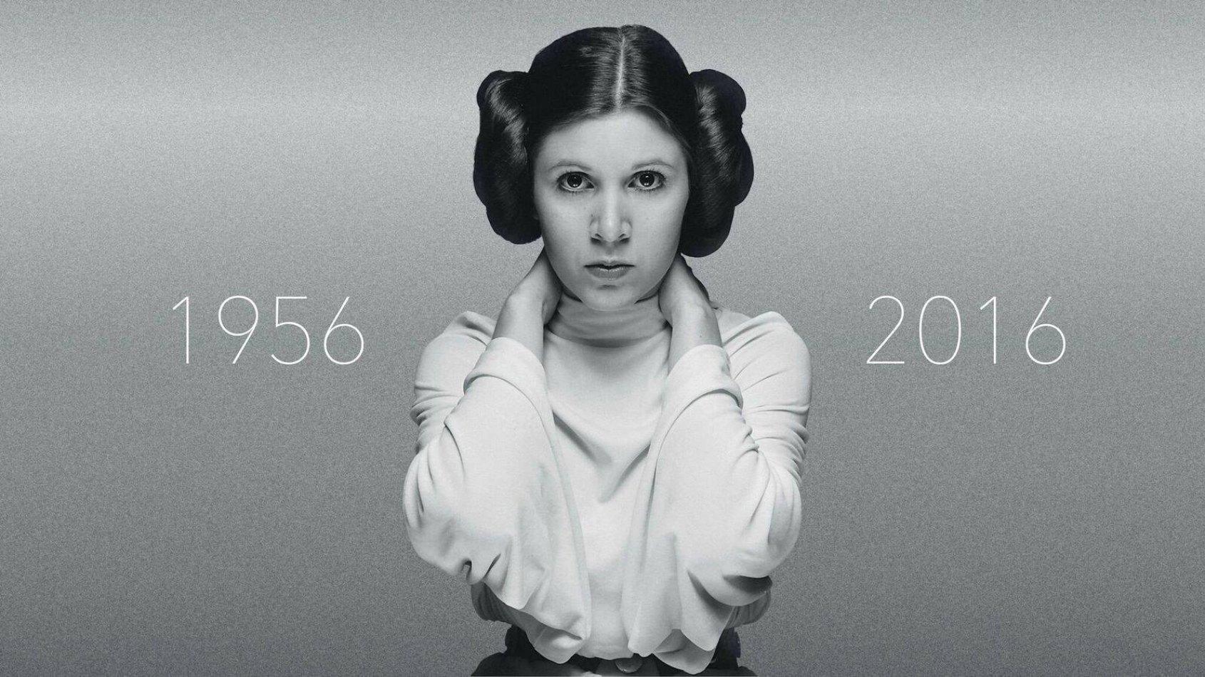 Carrie Fisher, la Princesse Leia nous a quittés et a rejoint la Force.