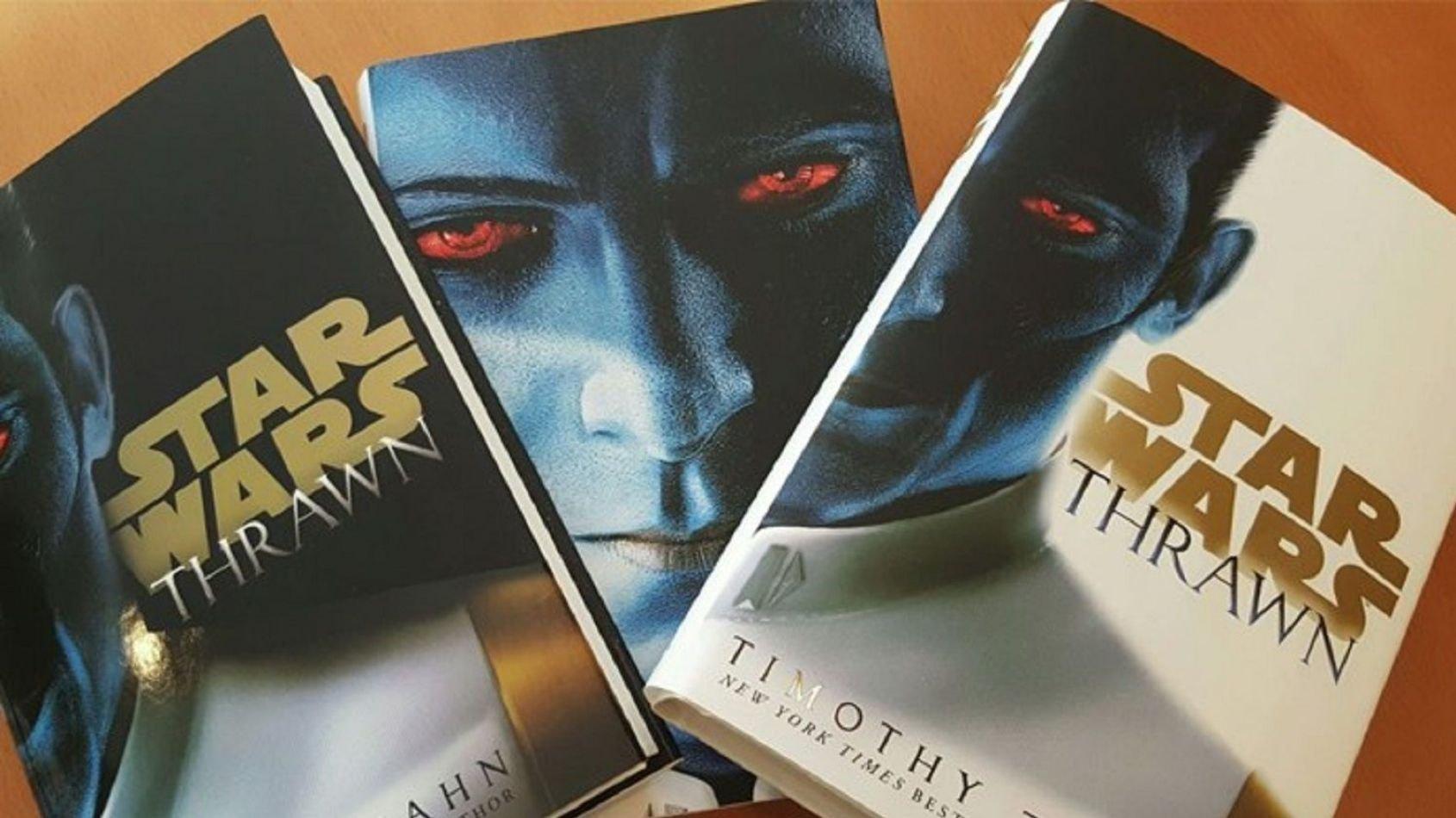 Trois couvertures différentes pour le roman de Star Wars: Thrawn