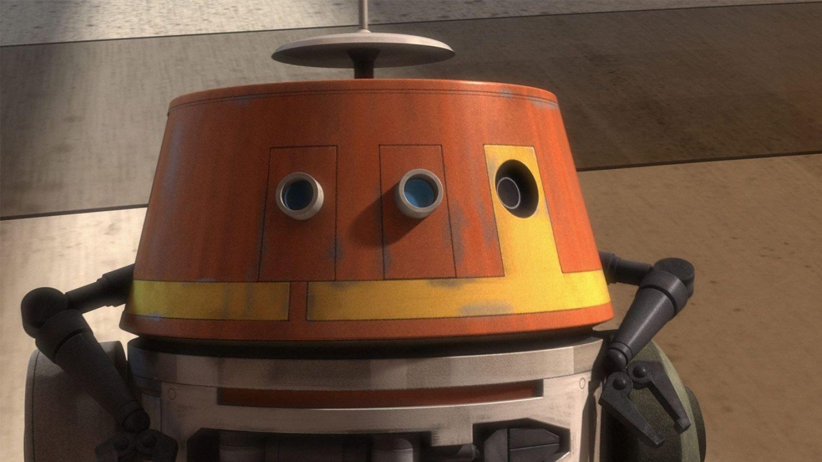 Focus sur le droïde Chopper de la série Star Wars Rebels