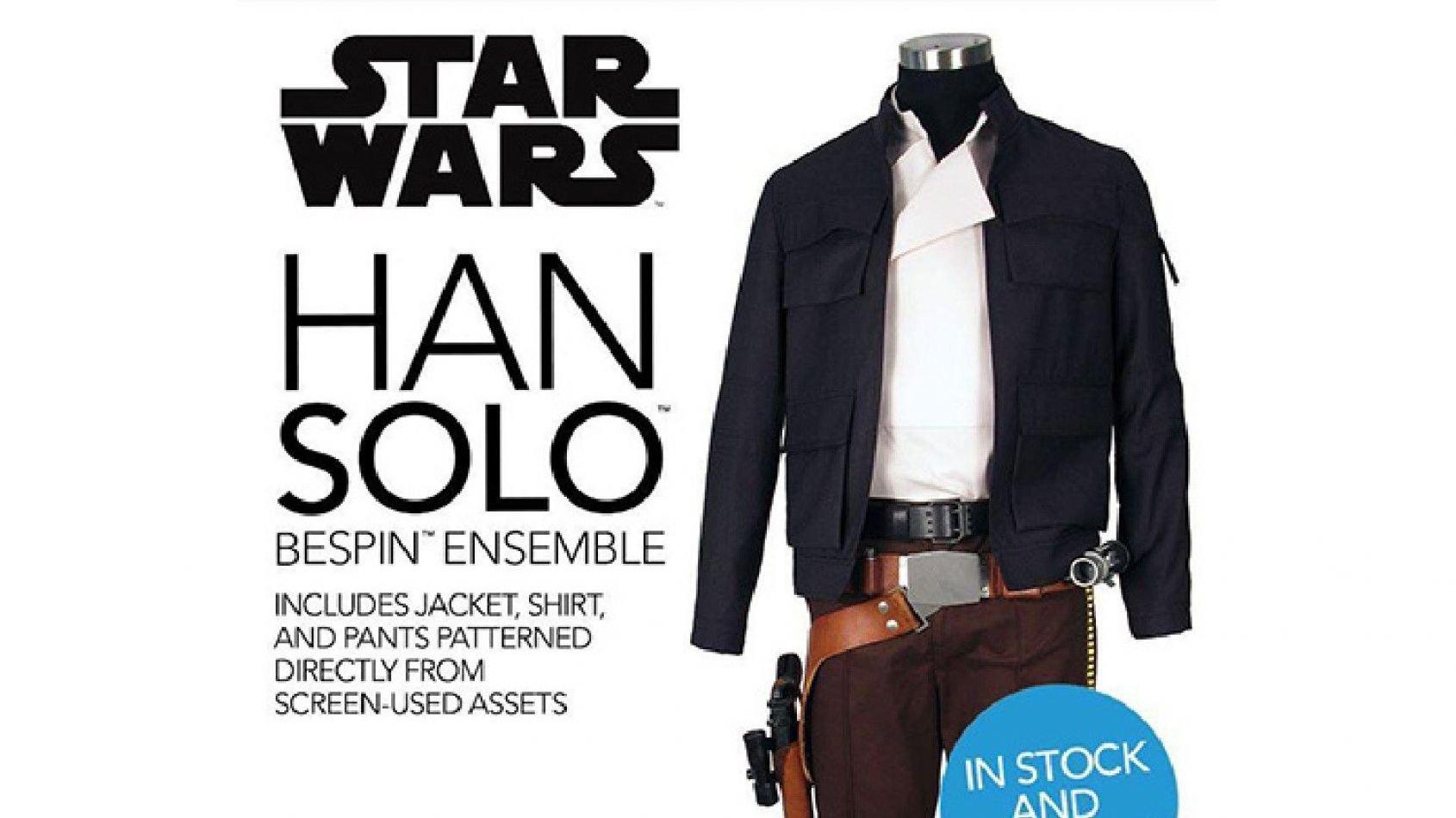 La tenue de Han Solo et ses accessoires est en stock chez ANOVOS