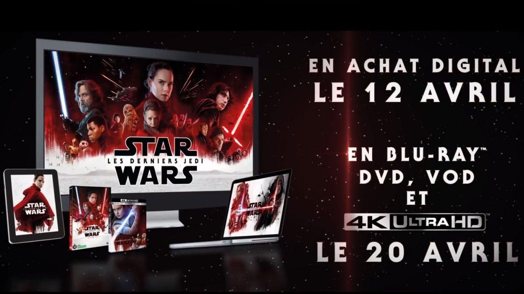 Les Informations Officielles du Blu-ray des Derniers Jedi en France